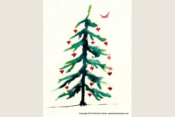 Heart Tree Christmas Card Gift Pack