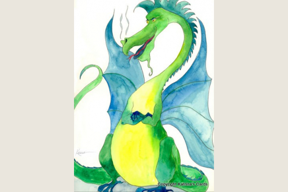 Green Dragon note card