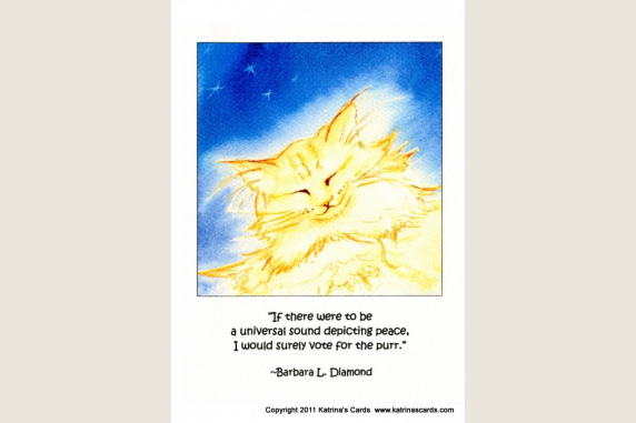 Ginger Peace Purr Quote Note Card Gift Set
