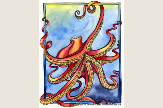 Octopus  note  card