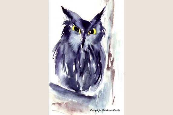 Screech Owl totem animal note card