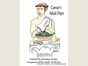 Caesar's Salad Days Note card gift set