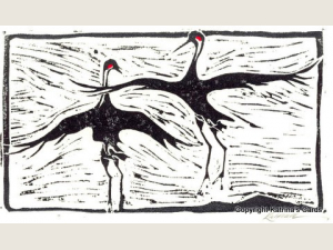Crane Dance Note Card Gift Set