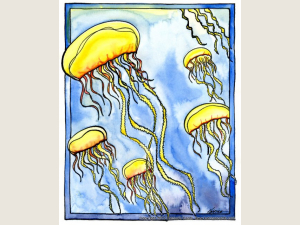Jellyfish note  card Gift Set