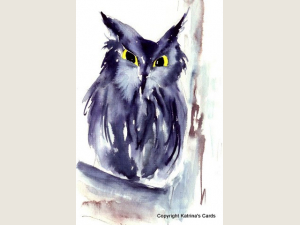 Screech Owl watercolor print