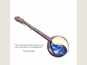 Yin/Yang Waves Banjo w Pete Seeger quote